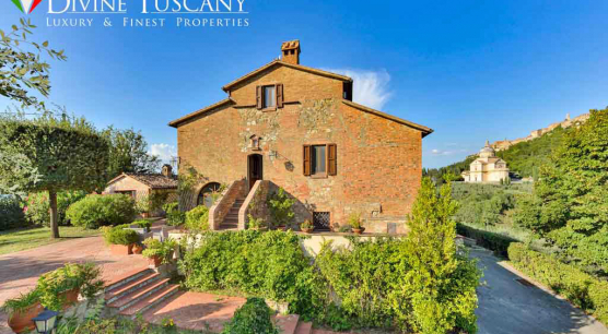 PANORAMIC COUNTRY HOUSE IN MONTEPULCIANO